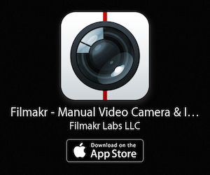 filmakr-app icon-video-camera-app-manual-instant-editor-editing-filmmaker-iphone-ipad-black-banner-ad-advertising-image