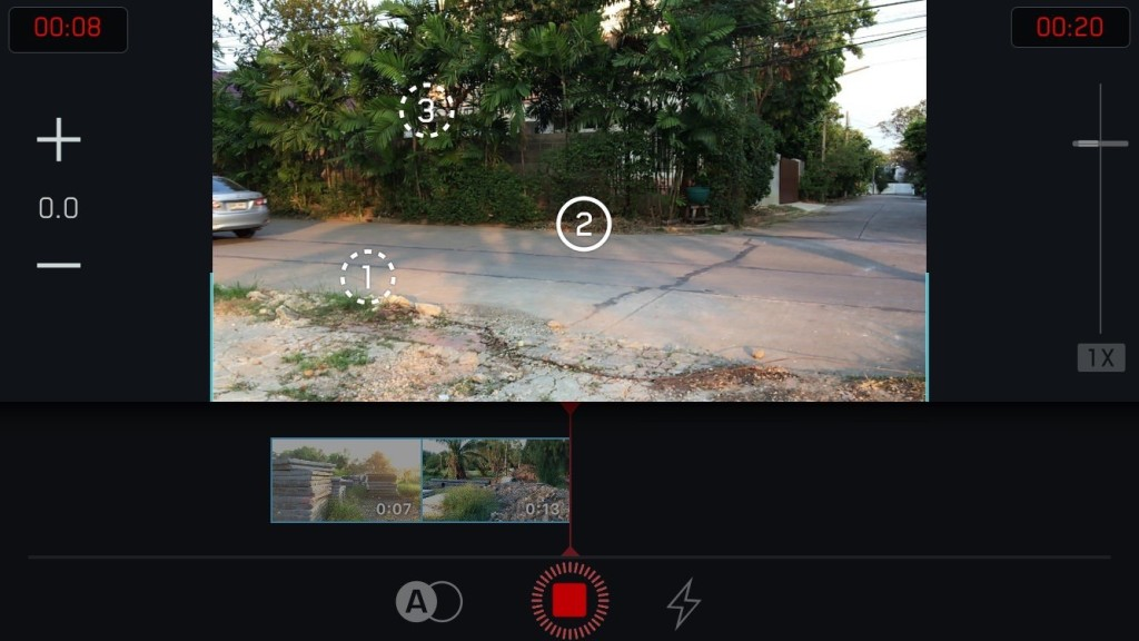 filmakr manual camera focus marks controls thailand beautiful user interface design editor filmstrip timeline tech technology iphone app thailand thai image