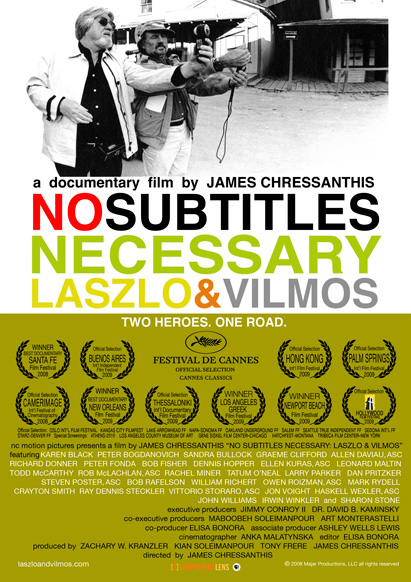 iPhone video camera no subtitles necessary lászló Kovács vilmos zsigmond poster cinematography cinematographer james chressanthis documentary film pro video camera image