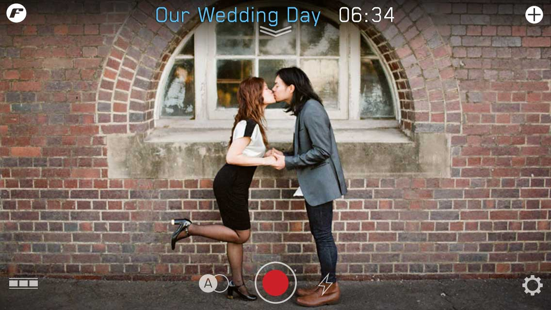 quick start guide wedding day film settings filmakr kiss boy girl high heels japanese editor editing video instructions touch graphics design ui ux user experience interface iphone tutorial manual how to image