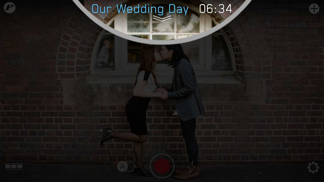 quick start guide wedding day film settings filmakr kiss boy girl high heels japanese editor editing video instructions touch graphics design ui ux user experience interface iphone tutorial manual how to tap image