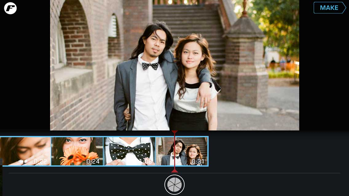 quick start wedding day filmstrip playback mode tap asian couple bow tie flowers filmstrip make instructions tutorial ui ux user experience interface iphone tutorial manual how to image