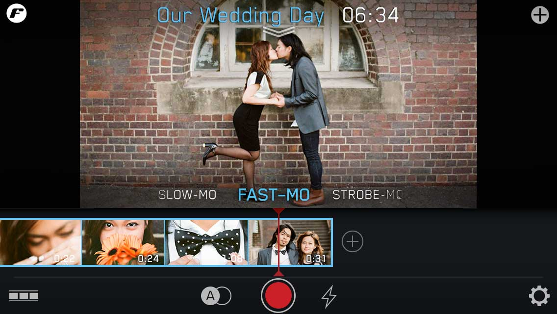 quick start wedding day play playback mode shutter kiss asian couple bow tie flowers filmstrip make instructions tutorial ui ux user experience interface iphone tutorial manual how to image