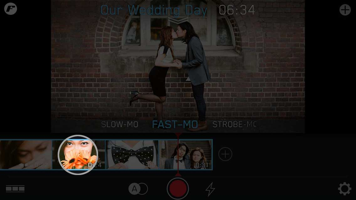 quick start wedding day tap filmstrip playback mode tap asian couple bow tie flowers filmstrip make instructions tutorial ui ux user experience interface iphone tutorial manual how to image