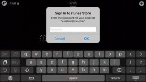 sign in to itunes store apple id filmakr premium upgrade ui interface keyboard restore purchases image